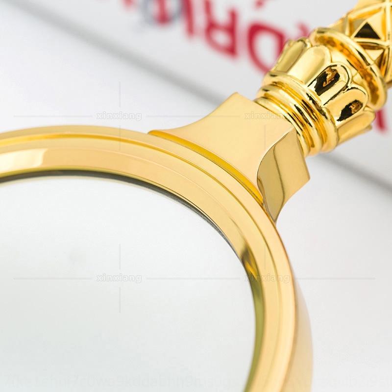 Цельнометаллический tuhao золото портативных увеличительное стекло 10 раз идентификации наблюдения античного завода Античного зритель фильма фильм зритель чтение МАИ