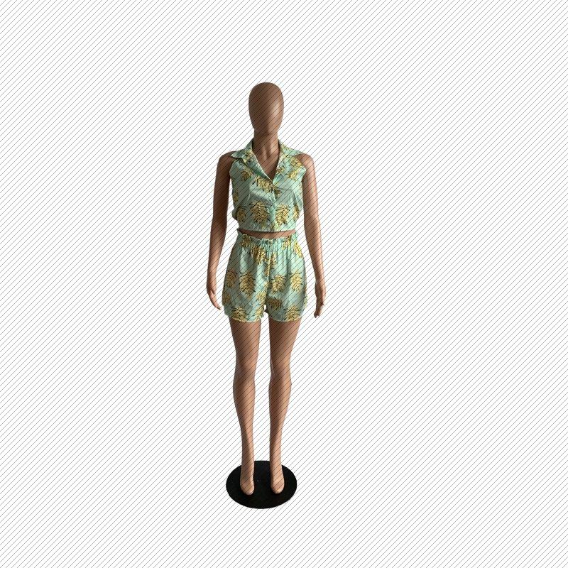 K8009 femmes sexy européenne et américaine Boîte de nuit Impression à chaud numérique Costume V-cou Fashion Costume Femme