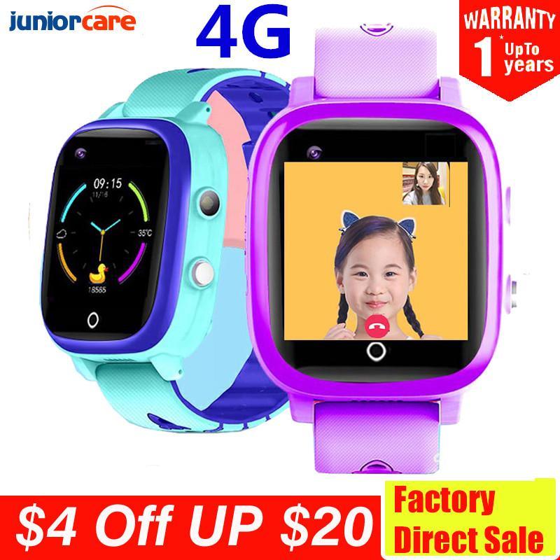 4G SIM Video Call Smart Kids Watch GPS Wifi Tracker Position Camera Baby Safe IP67 Waterproof Smartwatch VS Y95