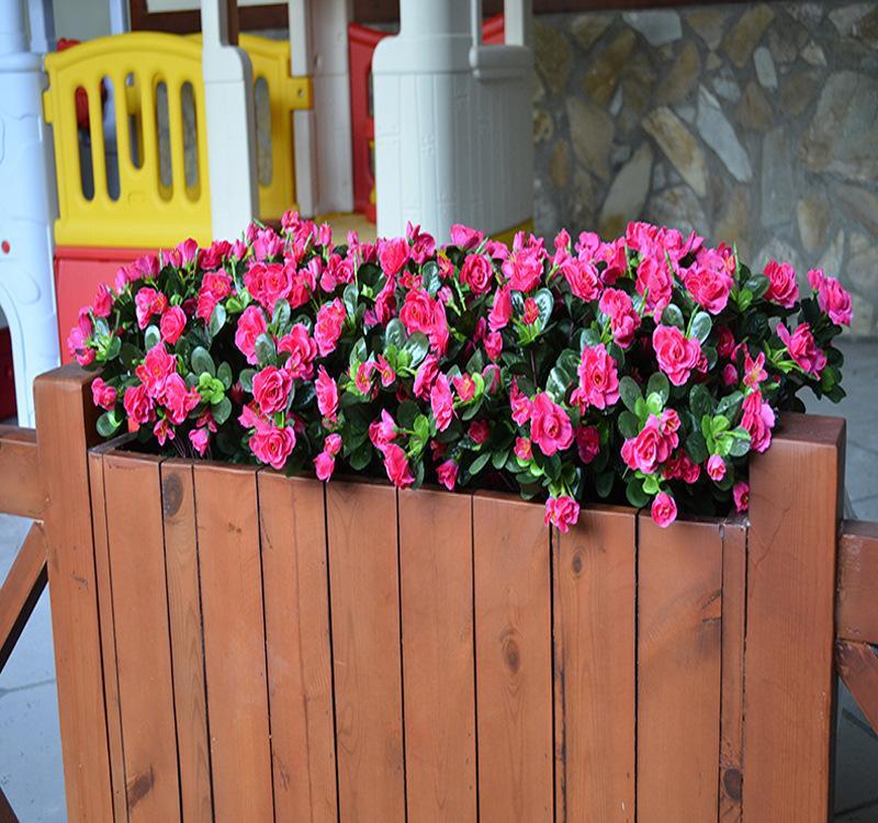 Модель Rhododendron Soft Загрузка Гринбелта Цветочная Box Открытых Пластиковых цветов шелковой Школа украшение Азалий