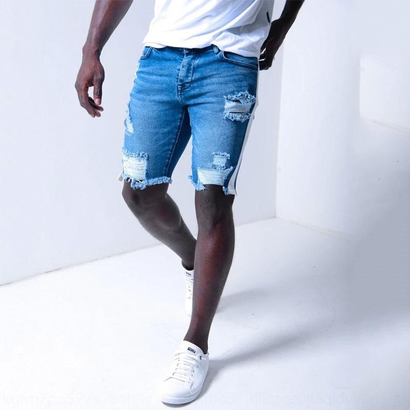 nuyWm DrRiw 2020 strappato nuova moda europea dimensioni degli uomini degli uomini alla moda europei di dimensioni 2020 nuovo denim e DK047 strappato Shorts in denim un