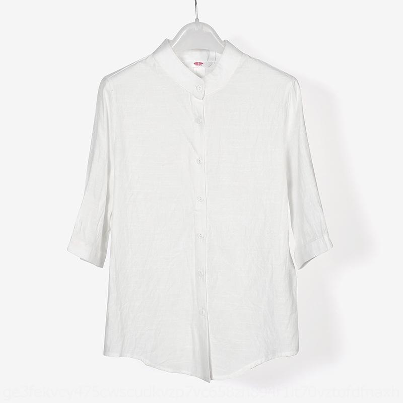 v3KaF 5zylA molla e camicia di colore 2019 nuovo studente di economia a metà manicotto di usura casuale della camicia delle donne coreane slim fit solido di Summer Donna di grandi dimensioni