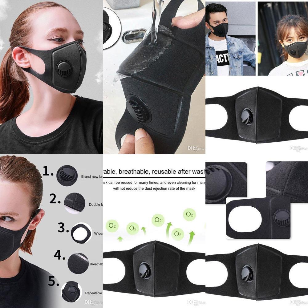 Mask válvula de respiração lavável Dustproof esponja cara reutilizável anti-poeira Nevoeiro PM 2,5 Protectiv SSMH81I6 AZ8Y