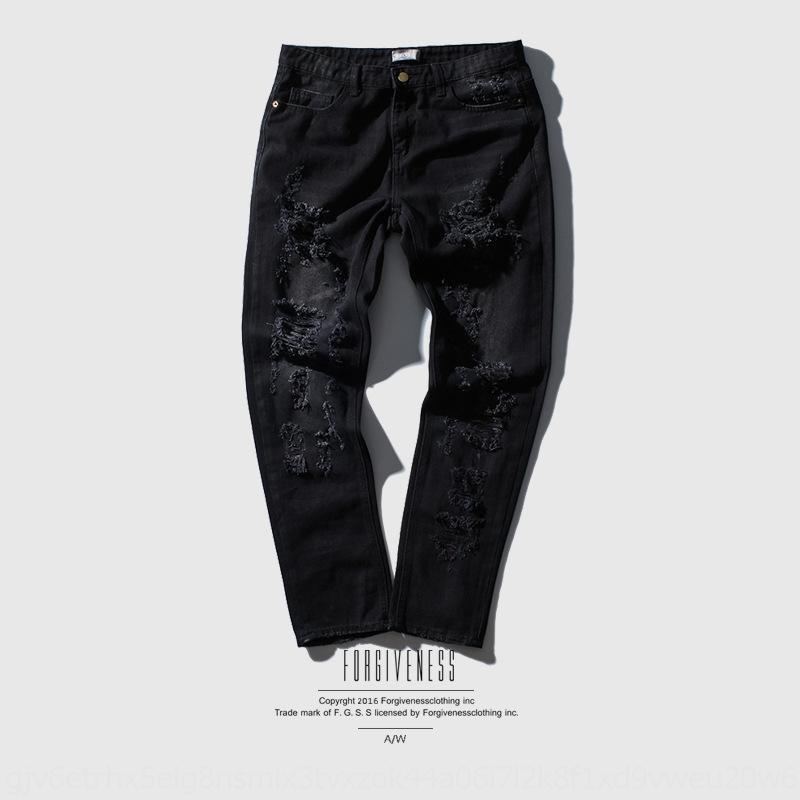 i2Iwu gCq70 de primavera y verano pantalones vaqueros de moda y las nuevas rectas bordado vaqueros del agujero de los hombres de la marca
