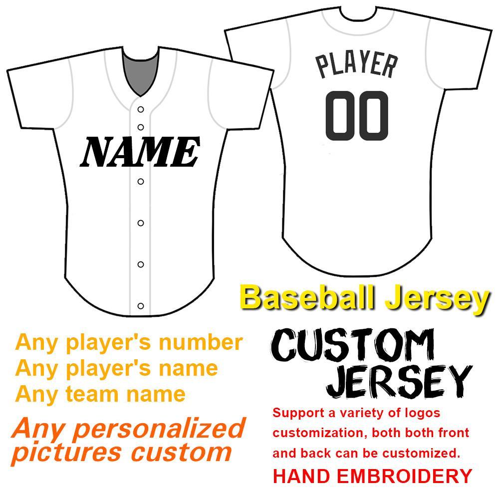 Professionelle Custom Baseball Jersey, gesticktem Logo, individuell gestaltete Nummer und Name Alle Farben, Jugend Frauen-Baseball-Shirt