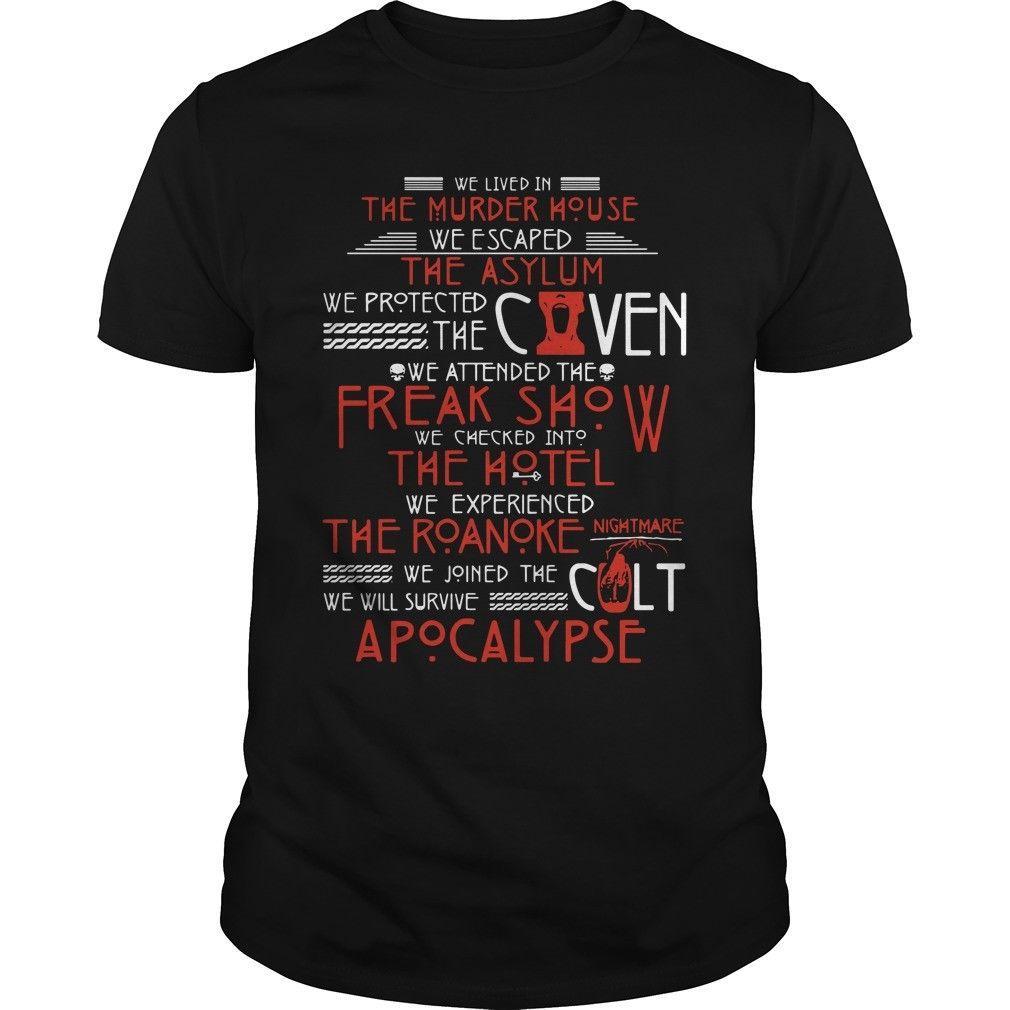 Vivíamos en el asesinato Casa camiseta de algodón Negro Hombres camiseta S-5XL de dibujos animados hombres de la camiseta unisex de la nueva manera camiseta envío libre
