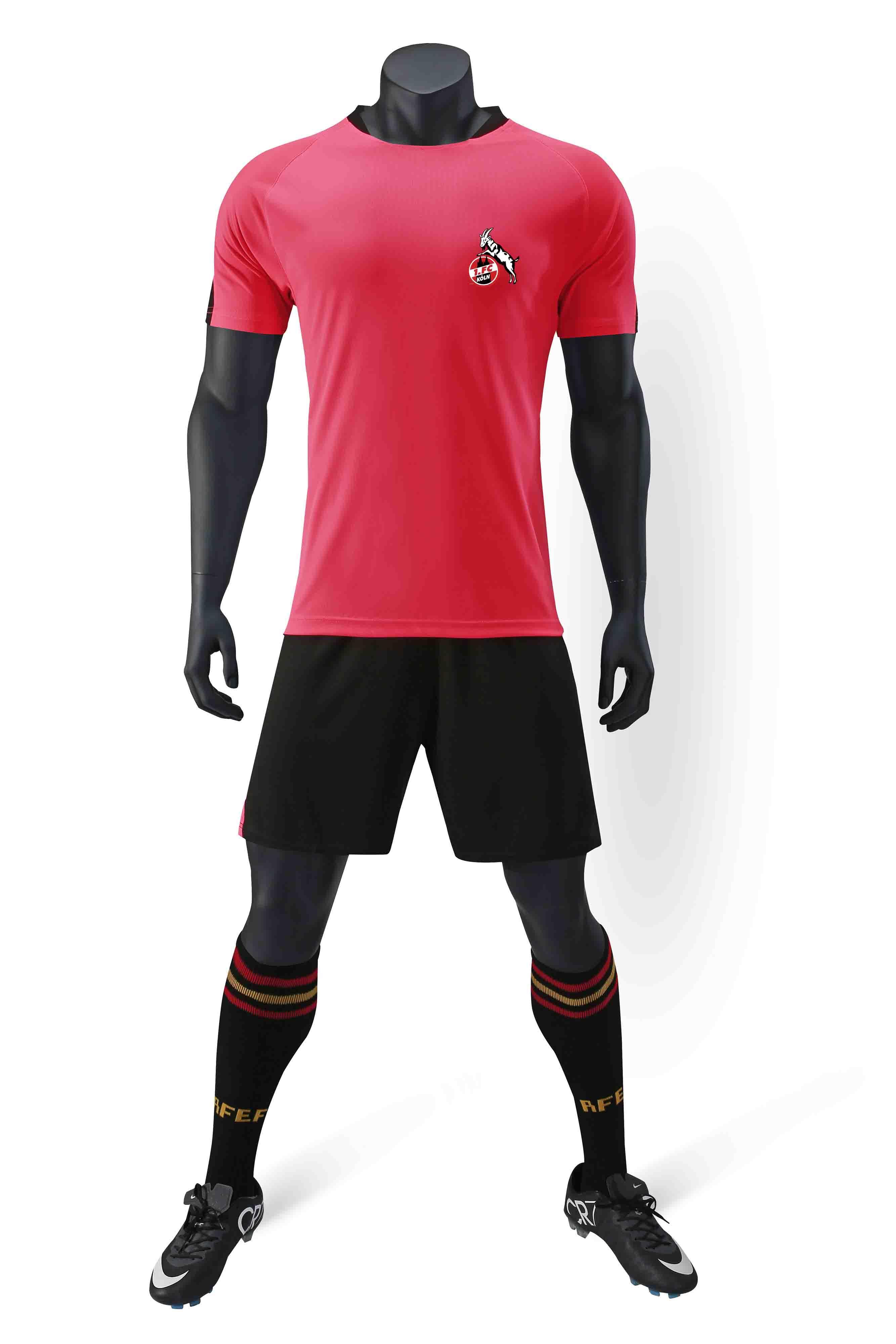 FC Köln 100% полиэстер спорта новый шаблон случайные футболки футбол костюм обучение модные мужские футбольные костюмы