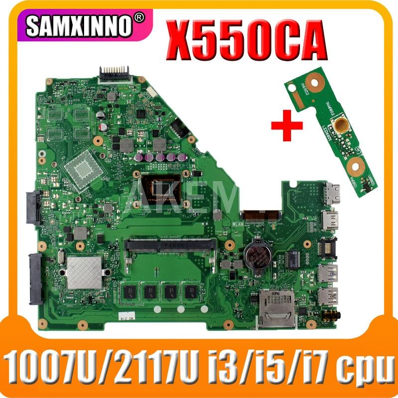 X550CA laptop Motherboard For Asus X550C X550CC X550CL Y581C R510C Mainboard test ok 2GB 4GB RAM 1007U 2117U i3// cpu