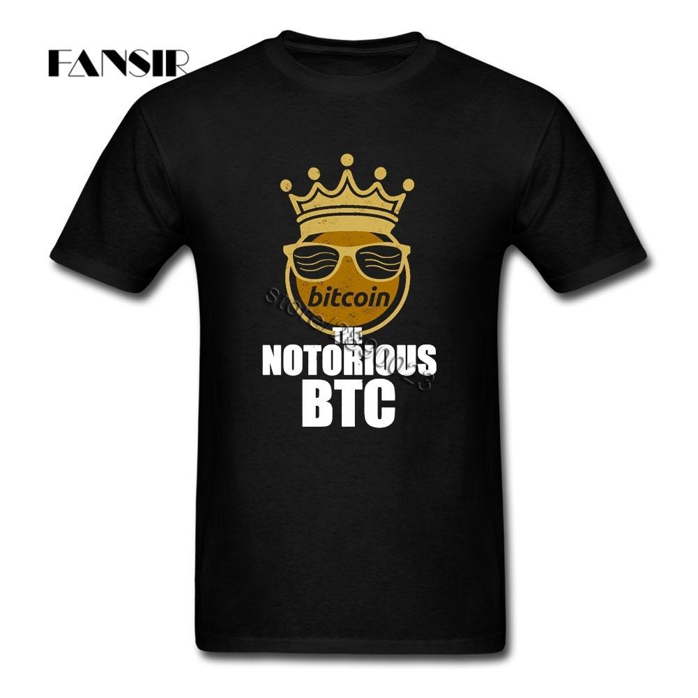 Roca Camiseta para hombre Bitcoin The Notorious Big Men camiseta de encargo de algodón de manga corta Guys tapas de la ropa