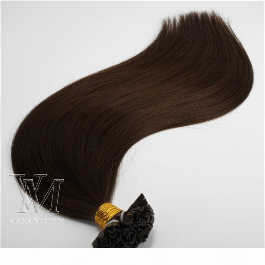 VMAE Platinum Naturale Biondo Virgin brasiliana diritta dei capelli 100PCS cheratina Nail Capelli Extesions U TIP Pre Bonded estensione dei capelli umani