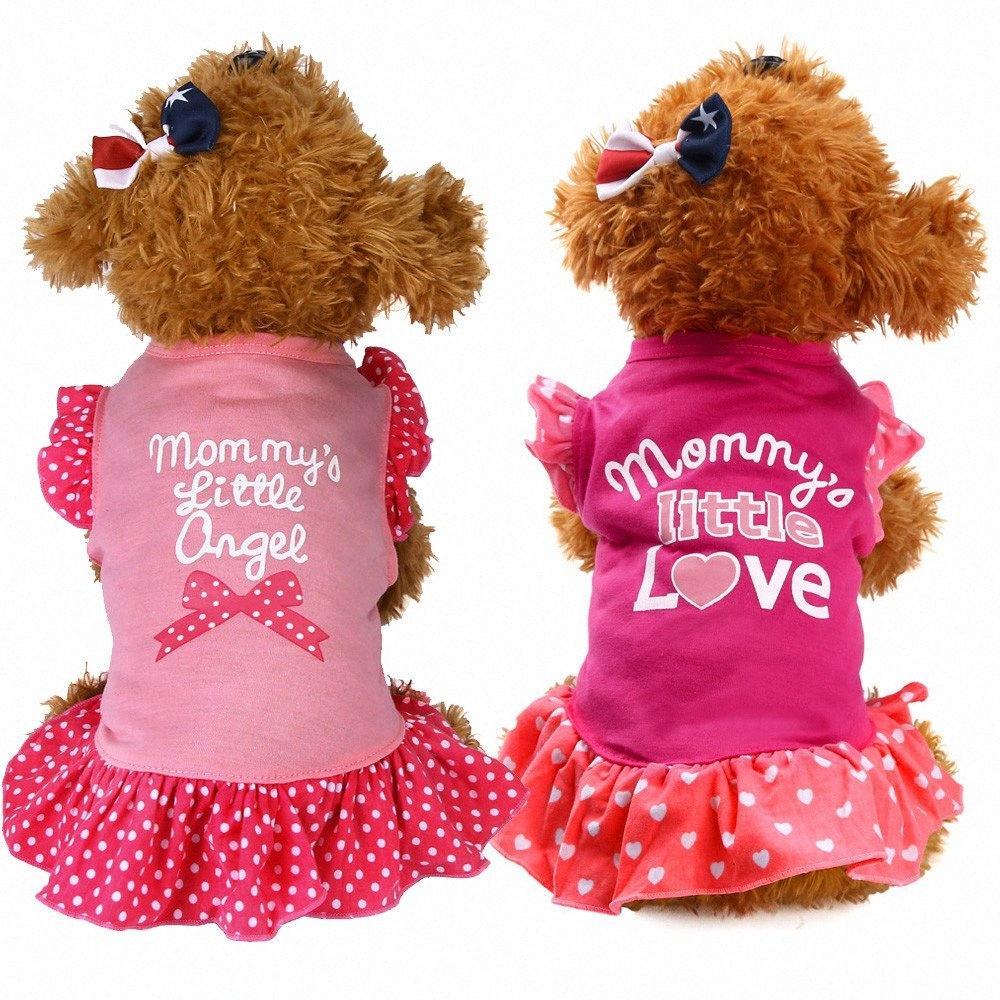 Лето Cute Pet Puppy Small Dog Cat Pet платье Одежда Одежда Fly рукава платья Pet Юбка Домашние животные Одежда и аксессуары NEW yKFa #