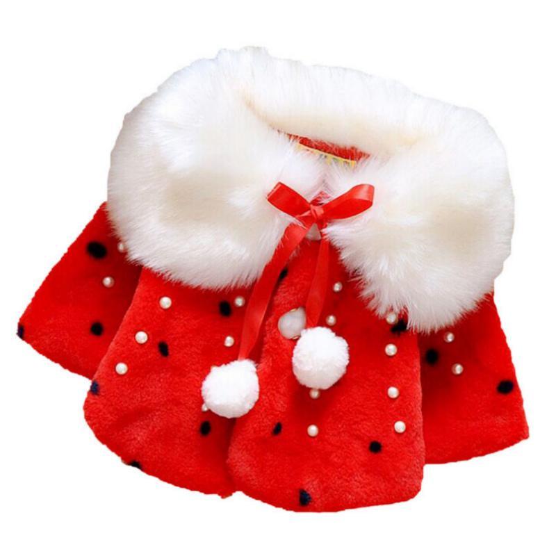 Kids Designer vestiti delle ragazze del bambino del bambino infantile delle ragazze vestiti carini Fleece inverno della pelliccia calda tuta sportiva del cappotto del mantello del rivestimento scherza i vestiti cappotto sveglio