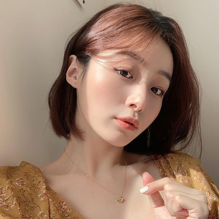 Elegante einfache Liebe Halskette weibliche koreanische In einfachen dreidimensionale Temperament Anhänger Claviclekette Mori Studenten Halskette