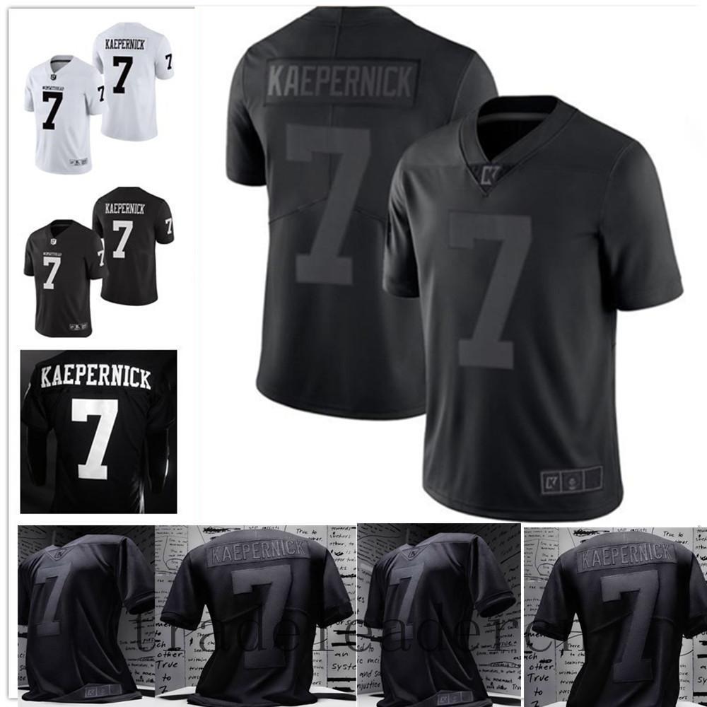 # 7 Double Stitched Colin Kaepernick Jersey All Black Jersey 2.0 Icône Fidèle à 7 NCAA IMWITHKAP Maillots