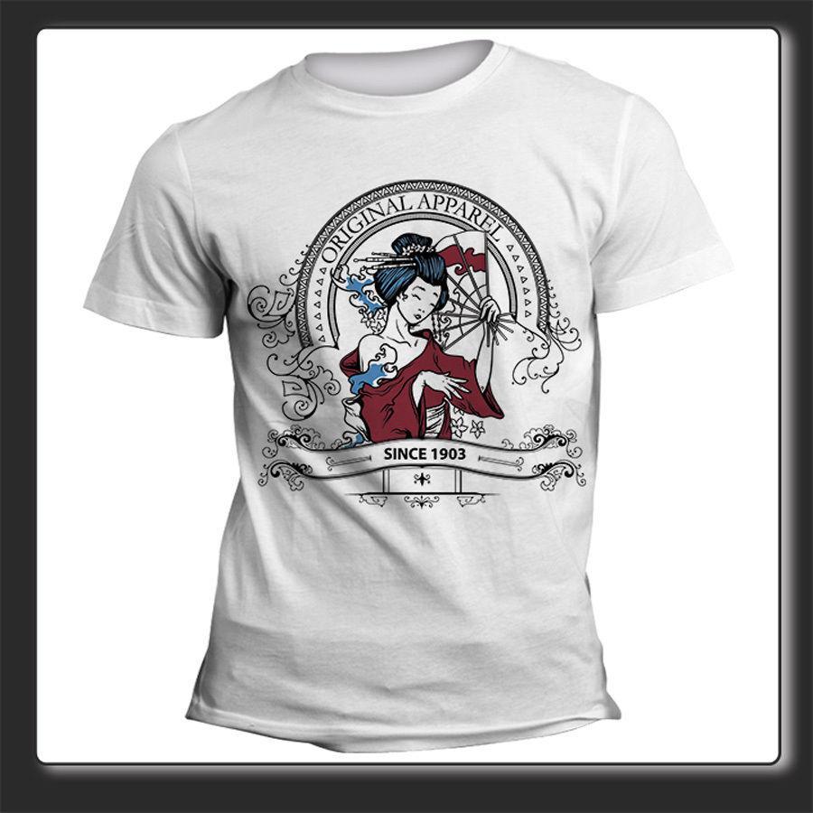 Nouveau à manches courtes Mens Cool Summer 2019 T-shirt Uomo Donna Giapponese Ventaglio T