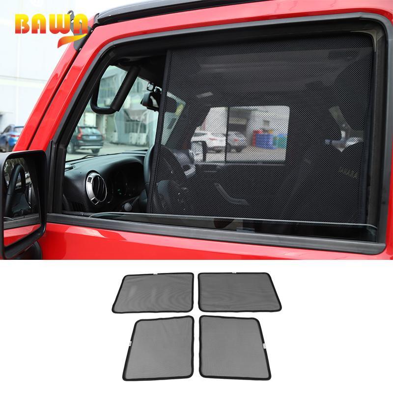 BAWA la ventana de coche lateral sombrilla Accesorios para Wrangler JK parabrisas 2007-2020 contra los rayos UV Parasol Cubierta