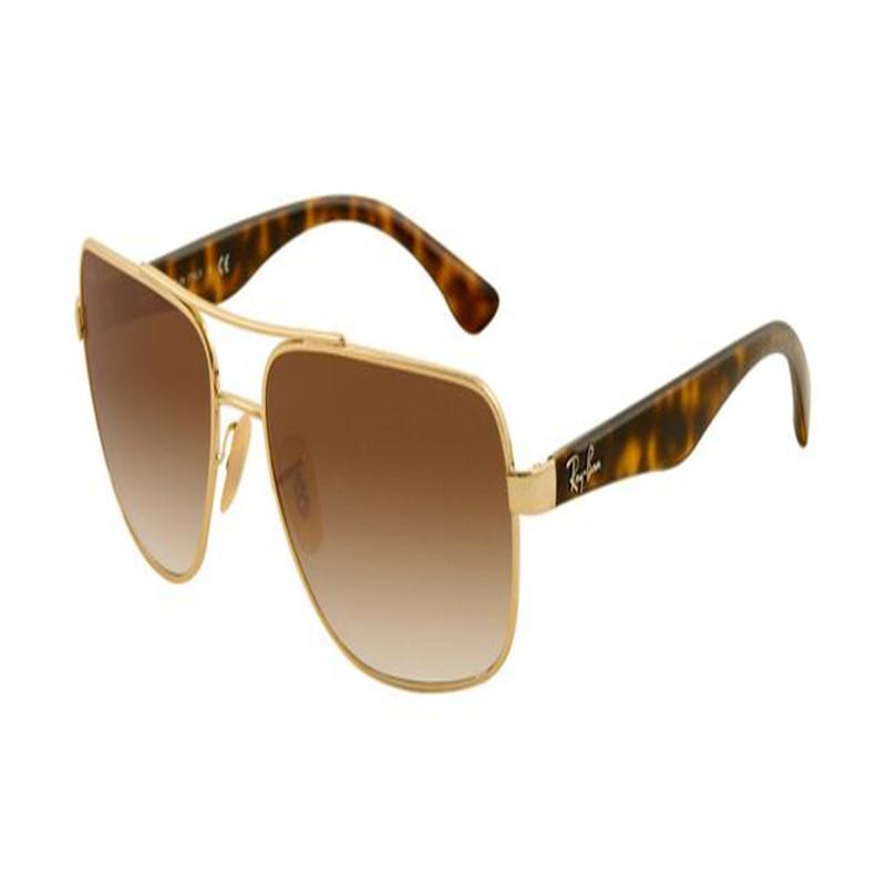 qualità 2020gTop Occhiali da sole rotondi metallici Eyewear Gold Flash lente in vetro per le donne degli uomini
