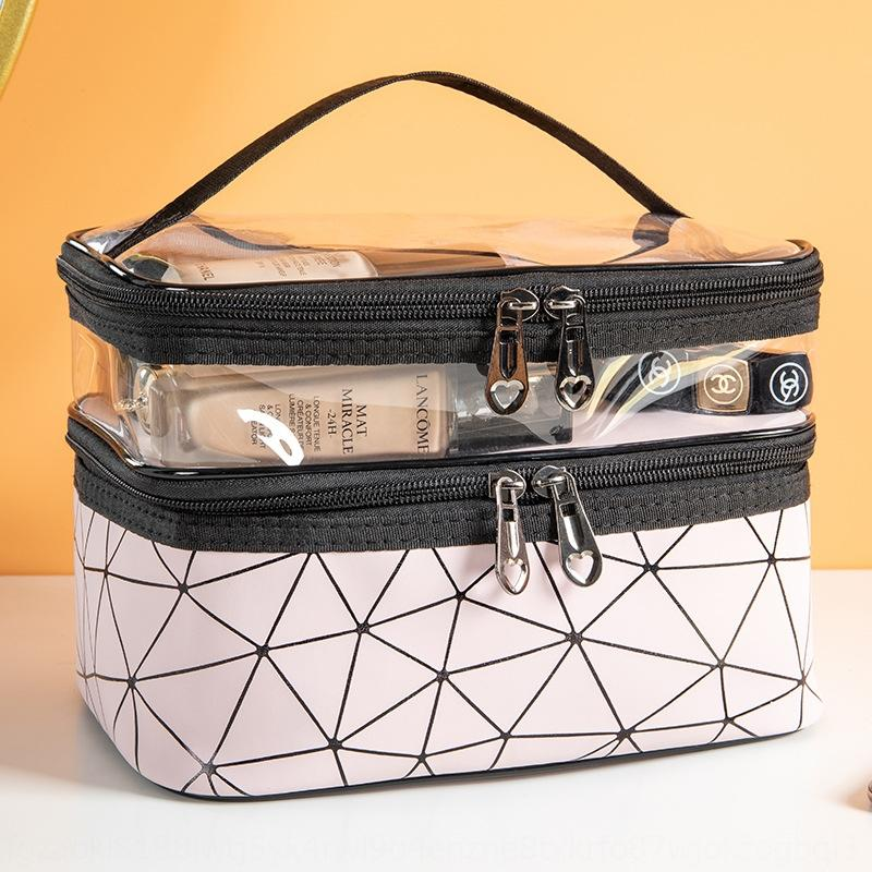 New diamond pattern Road cosmetic multi-functional large capacity portable cosmetic storage travel New diamond bag wash bag 6abv1