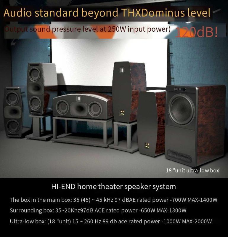 DSY-1101 falante oi-end HiFi Home Theater High Power 120dB Dive Center Surround Speaker 15 18 polegadas Subwoofer Bookshelf