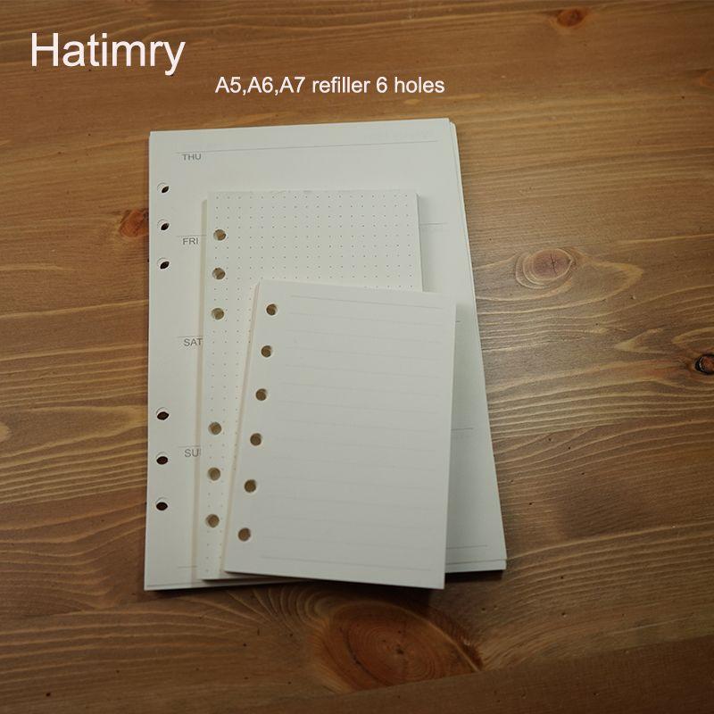 Notepads Hatimry A5 A6 A7 Szie Doldurucu Caderno Gündem Kitap Dizüstü Kağıt Sefter Escolar Sketchbook Okul Malzemeleri