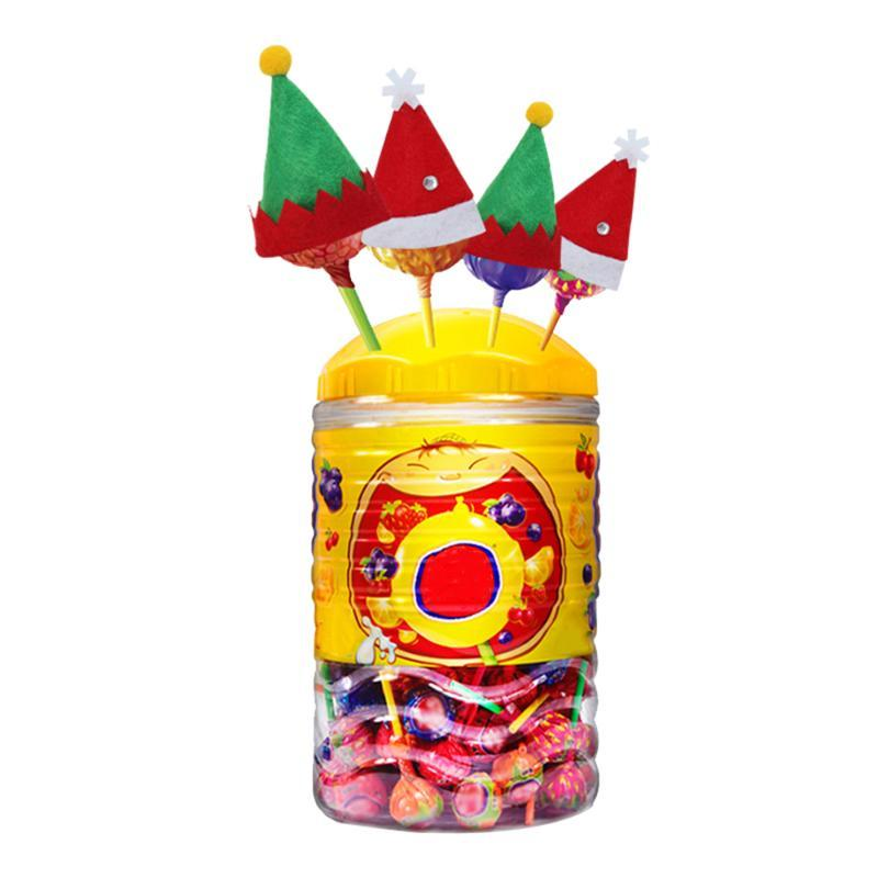 Mini Christmas Hat Xmas Christmas Decorations Gift Festivals Santa Hat Candy Cover Red Santa DIY Lollipop Candy Cover
