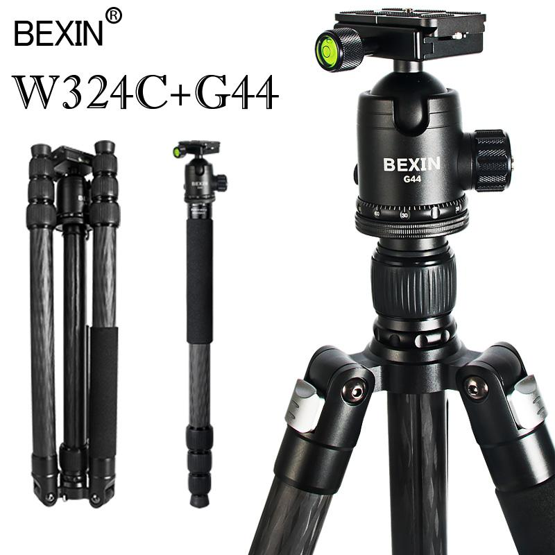 Professional carbon fiber tripod travel lightweight tripod portable DSLR video camera stand shooting photo for camera