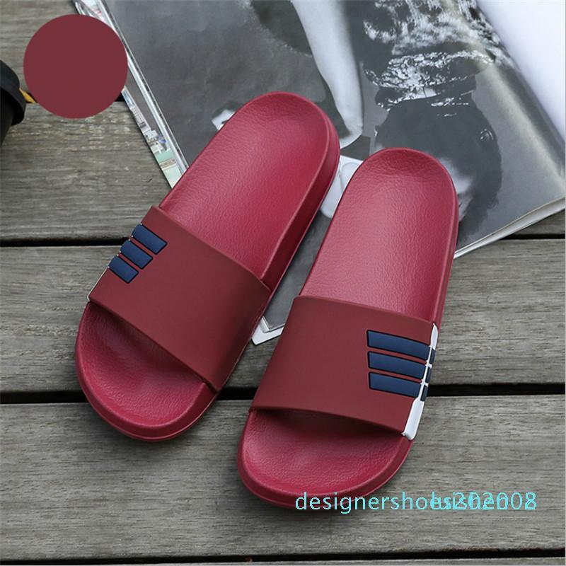 Hommes Chaussons Mode Tongs Homme Slides femmes Summer Beach Couple Sandales Femme souple Semelle antidérapante Chaussures Homme Pantoufle D08