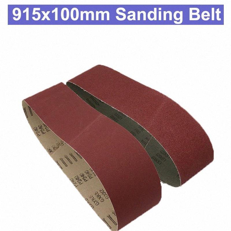URANN 915x100mm nastri abrasivi di lucidatura Ossido Sander levigatura del legno lucidatura a nastro abrasivo di allumina affilatura Metalli morbidi strumento MFMC #
