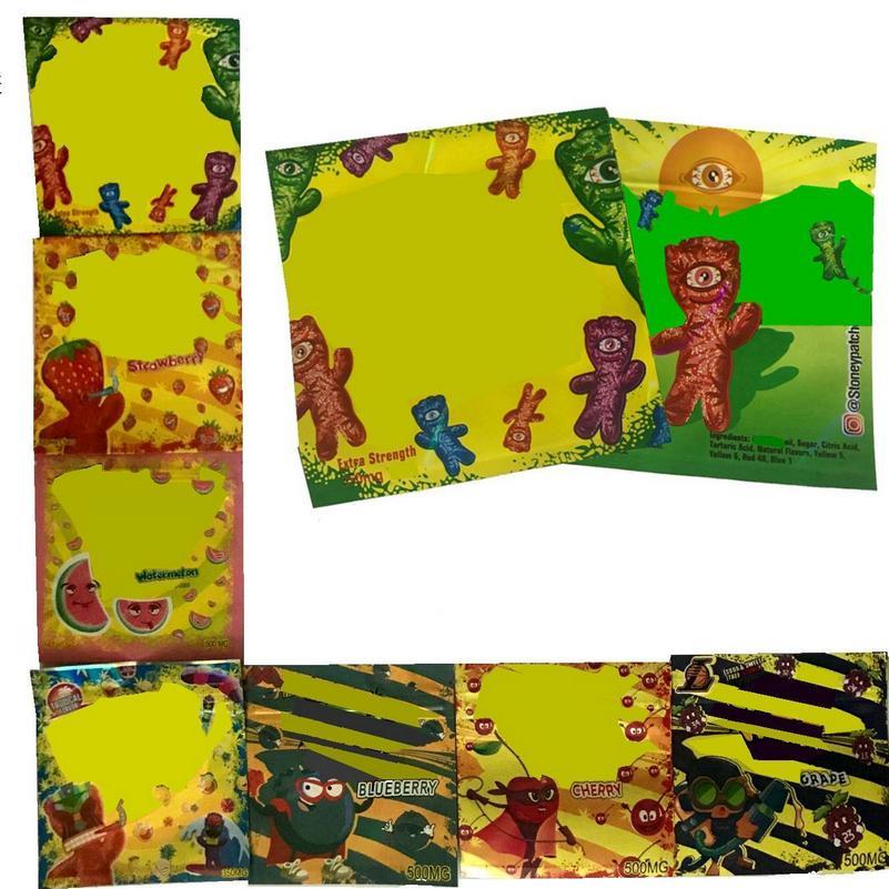 Zipper конфеты Запах Майларовый Resealable Gummy 350mg 2020 Продажа Пусто Proof Упаковка Мешок 500мг Горячие Пластиковые Edibles SQ2009 atNga