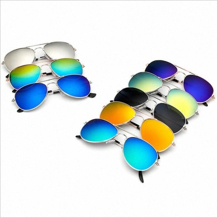 Óculos de sol Crianças Meninos Sapo piloto óculos Meninas clássico Designer Óculos de sol Crianças Praia Fontes UV Protective Crianças Retro Eyewear 85VO #