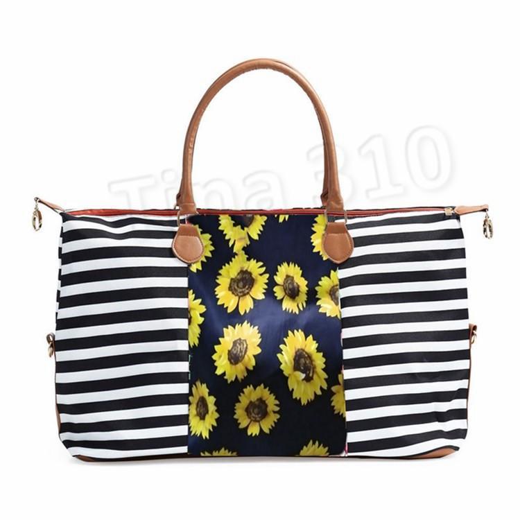 Art und Weise 22 Zoll große Reisetasche mit Schultergurt Tragetasche Travel Sonnenblume Totes Seesack Patchwork Handtasche homewareT2D5048