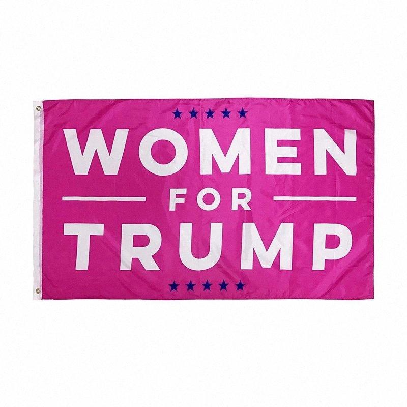 90 * 150см Дональд Трамп Флаг Женщины Баннер США 2020 Президентские выборы флаг Девушки Женщины Красные флаги HHA597 HydY #