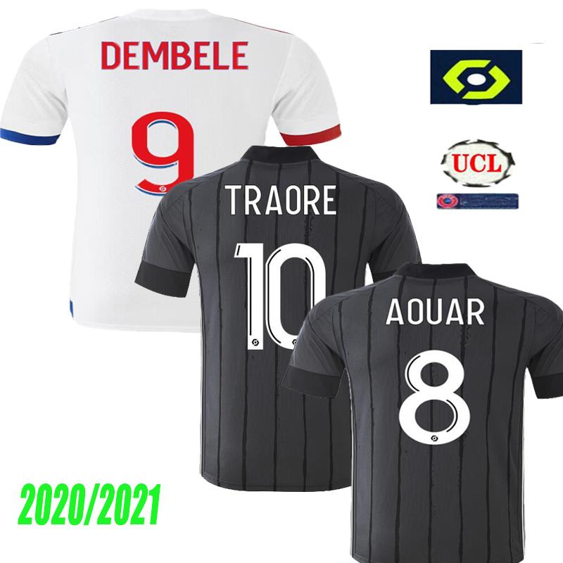 20 21 Maillot de pie jersey de fútbol Olympique de Lyon Lyon 2020 2021 maillot de Lyon camiseta de fútbol TRAORE MEMPHIS OL camisas lyon jersey