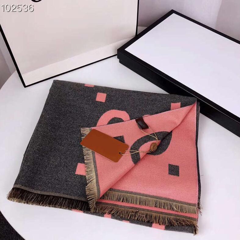 겨울 패션 여성 실크 스카프 새로운 도착 남자 여자 4 계절 목도리 스카프 격자 편지 스카프 크기 190x65cm 최고의 품질