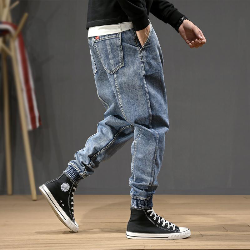 Fashion Style japonais Hommes Jeans Denim vrac épissé Designer Cargo Sarouel Pantalon Slack Bas Hip Hop Joggers Jeans Hommes MX200814
