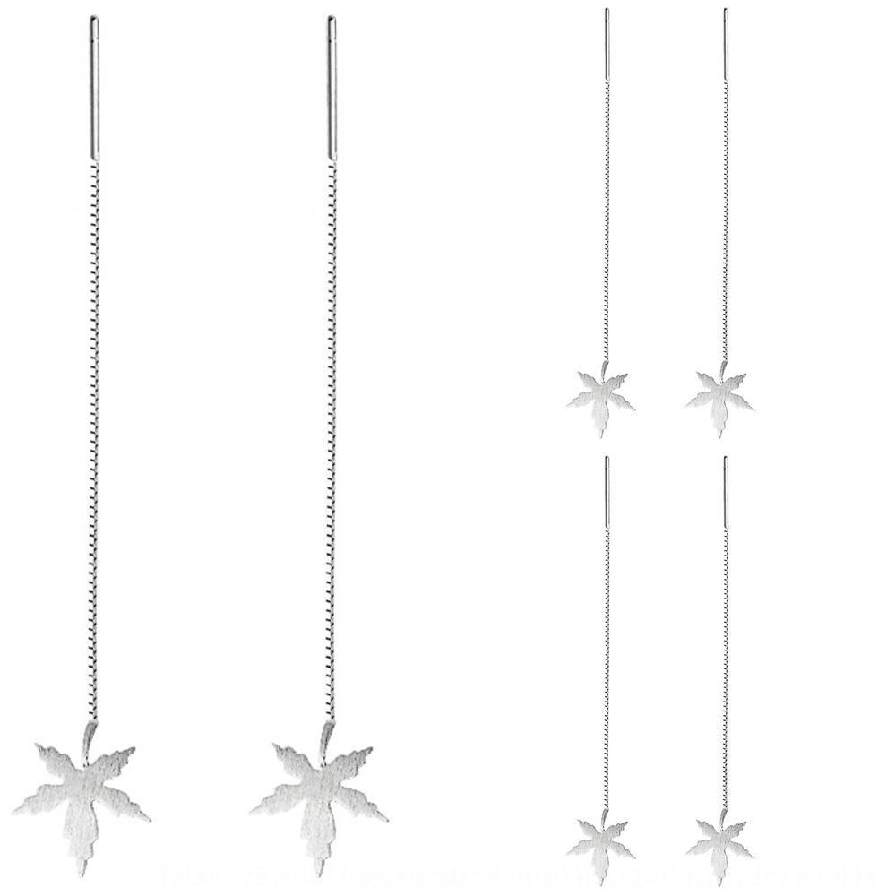 2020 chinesischer Valentinstag 925 Sterling Silber Ahornblatt Frauen einfache japanische und koreanische Mode und Ohrringe Ohrringe