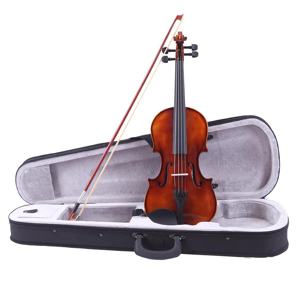 4/4 Antique GV201 Bright All Wood Violin Set with Shoulder Holder Electronic Tuner and a Violin New