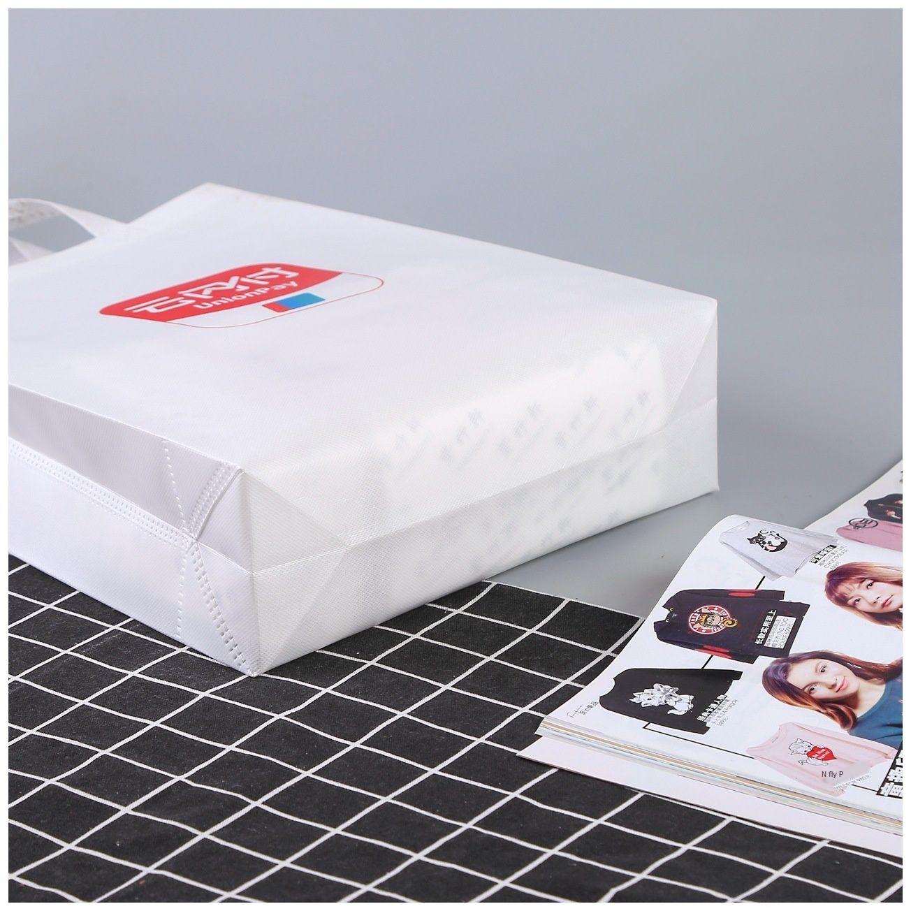 Coated Shopping non-woven printing design shopping bag shoulder bag stereo non-woven handbag