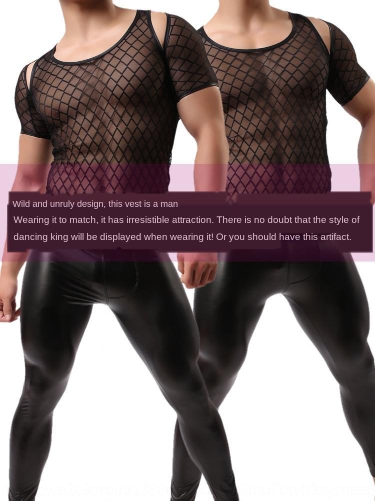 fsIEH gnl6d nylon nouvelle grille de performance scène hommes hommes en nylon gilet WH49 wowhomme nouvelle moitié wowhomme moitié T-shirt gilet t-shirt gilet étape