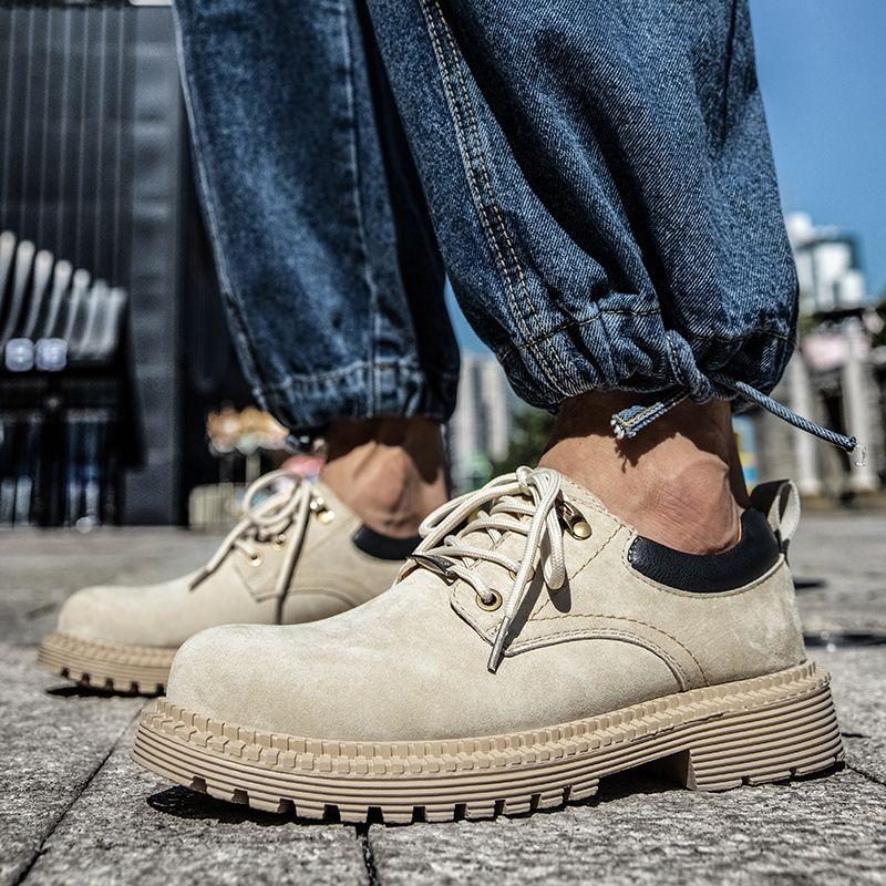 Oxford le cuir suédé de vache Chaussures Hommes Top qualité Chaussures Hommes Flats Chaussures Mode dentelle hommes en cuir en plein air