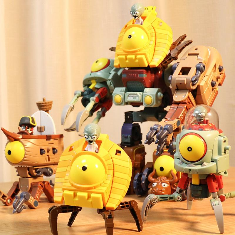 Kid toys Action Toy Plants vs Zombies Deformation assembly model toy The zombie alliance 2020 hot selling