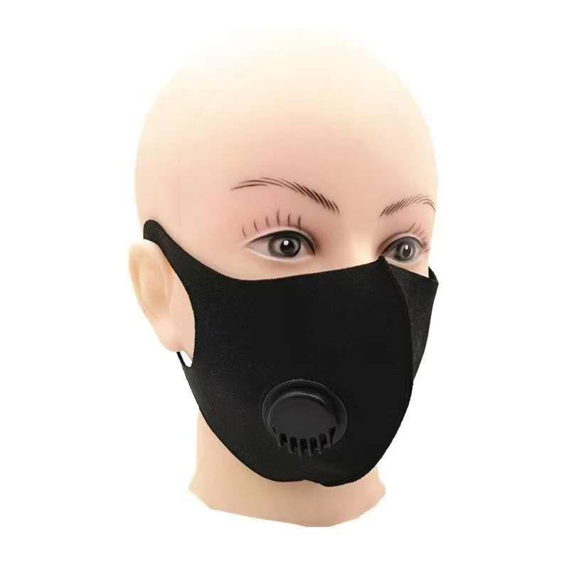 Ağız Kapak In Stock toz geçirmez kapak Buz İpek Açık Bisiklet Maskesi Nefes ile DHL 3-5 Gün Katı Renk Moda Yüz Maskesi