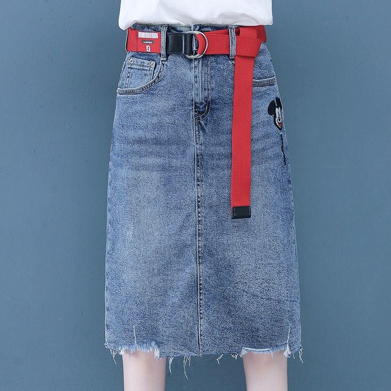 Dxb8L HqwvJ une étape d'été des femmes Denim 2020 haute minceur nouvelle mi-longueur de la taille jupe fourreau de laine jupe en une seule étape