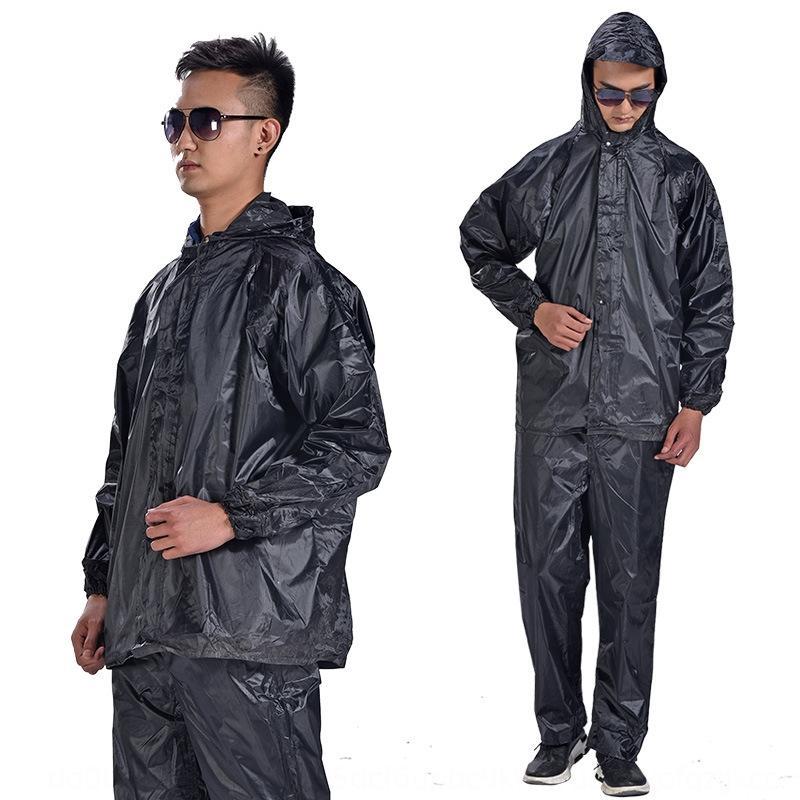 uTBfX Changzhou Hongfu capa feijão dividir homens reflexivos e calças set adulto da motocicleta das mulheres terno montando motocicleta dupla rainc camada