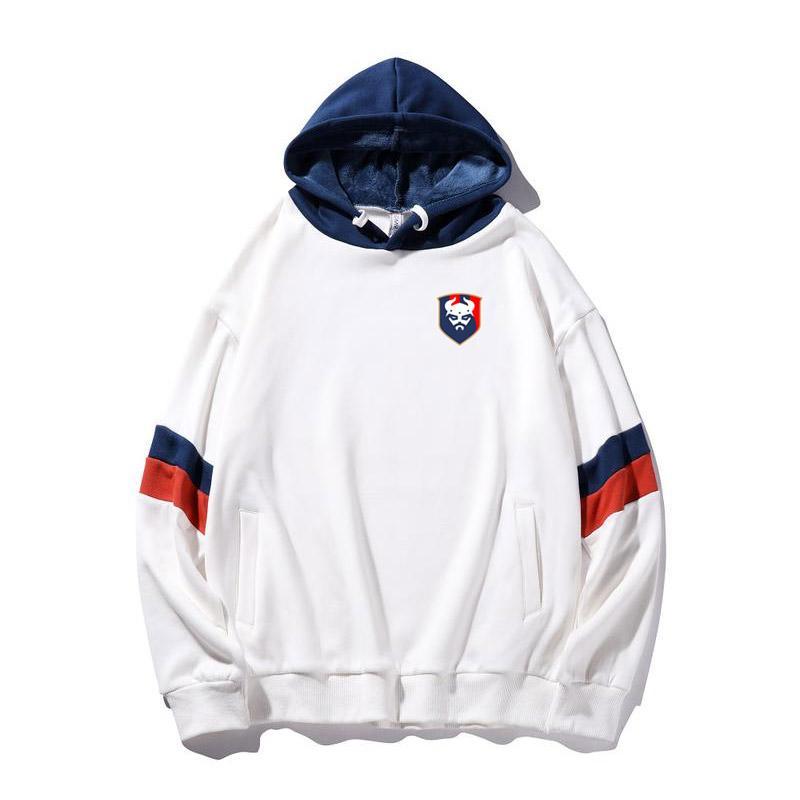 caen 2020 neue Art und Weise Trend Kapuzenjacke Baumwolle Fleece Outdoor Sport Jacke Warm Winter Street Basketball-Jersey-Fußball-Jacke