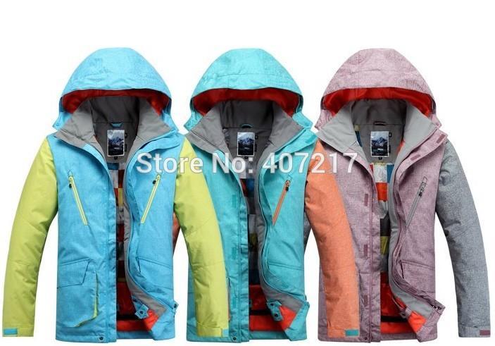Gsou snow new arrival mens ski jacket male snowboarding jacket assorted colors skiing coat anorak waterproof 10K super warm