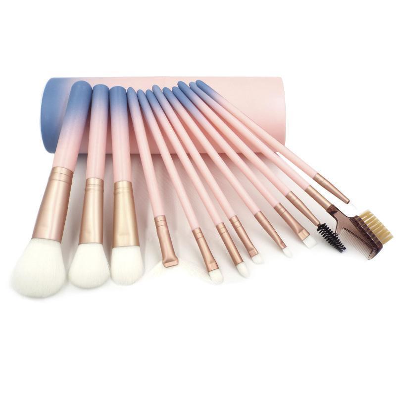 Makeup Brushes Set Rosto Fundação Pó Escova Profissional Maquiagem Concealer Blush Sobrancelha Sombra Eye Make Up Brush Set com o copo
