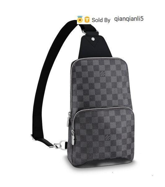 qianqianli5 EJKG AVENIDA honda del bolso N41719 de los hombres bolsos del mensajero del bolso de la correa de hombro Totes cartera carteras del equipaje de la lona