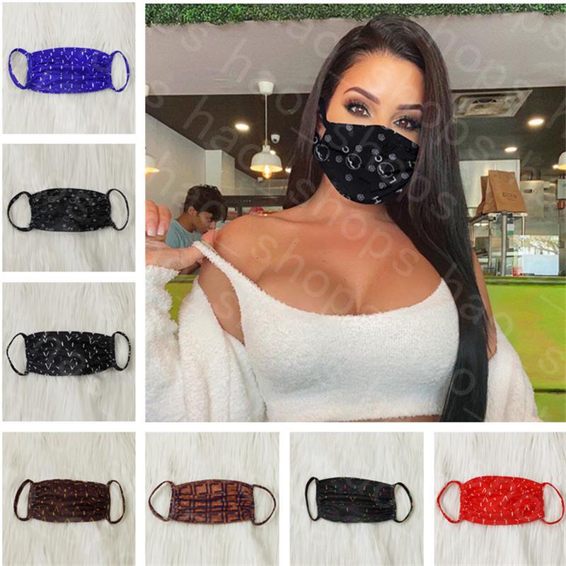 Cara de la moda de la máscara del polvo anti ultravioleta a prueba de máscaras de diseño Hombres Mujeres Boca-mufla de impresión de letras Máscara Diseño lavable verano Cara Mejor INS