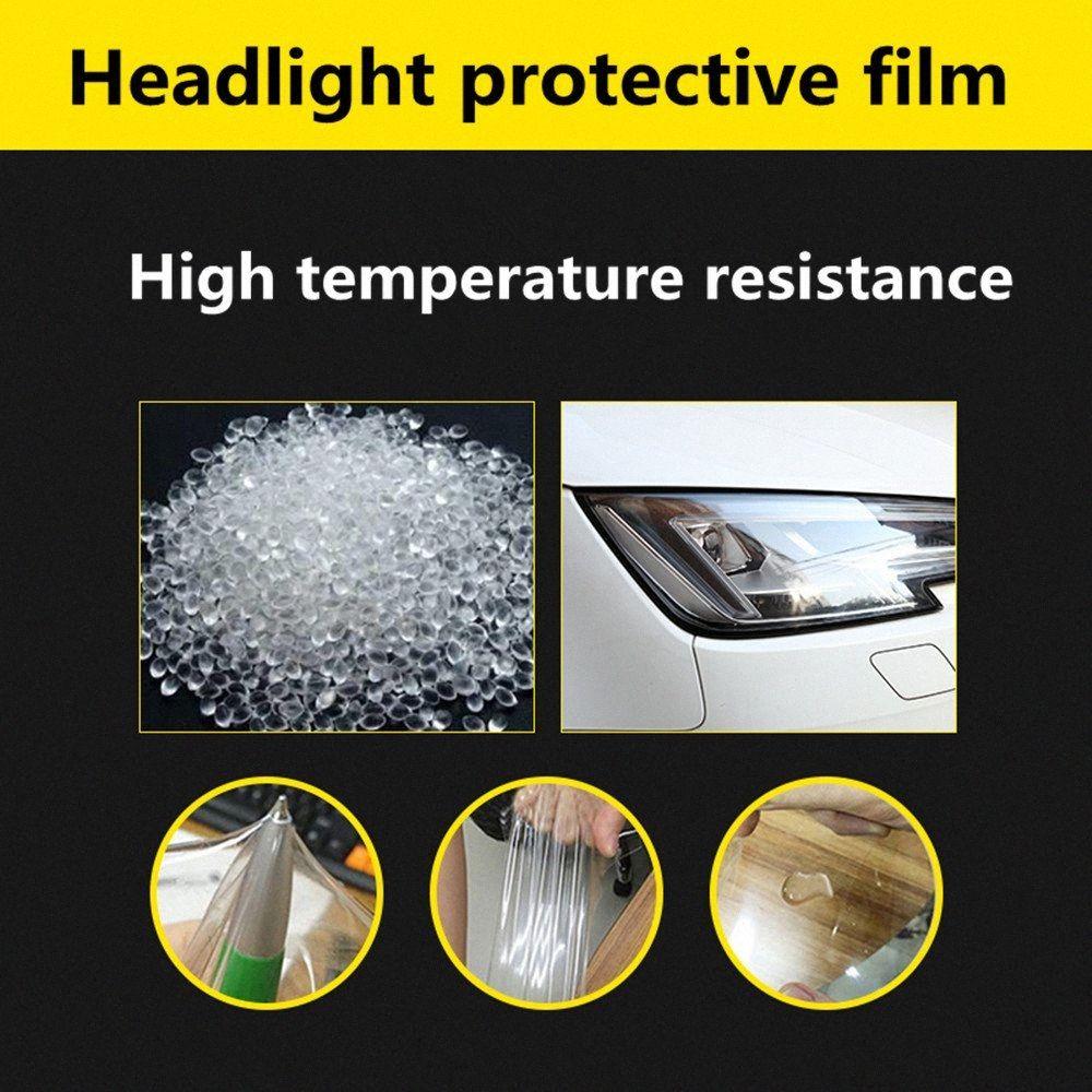 자동차 헤드 라이트 스티커 테일 라이트 스티커 자동차 보호 필름 투명 스크래치 방지 헤드 램프 필름 비닐 dSR2 번호